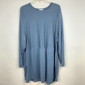J Jill 3X Sweater Blue Long Sleeve Tunic